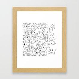 The 11th Bunny Framed Art Print