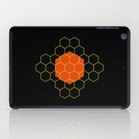 hexagon iPad Cases featuring HEXAGON by KARNATARKA