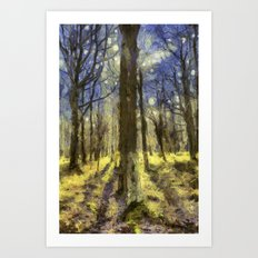 Peaceful Forest Van Gogh Art Print