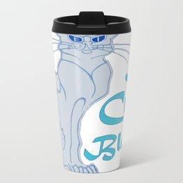 Le Chat Blanc Parody Vector Travel Mug