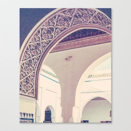 Bahia Palace Moroccan Arches Fine Art Print Canvas Print