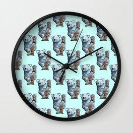 awesome koala pattern Wall Clock