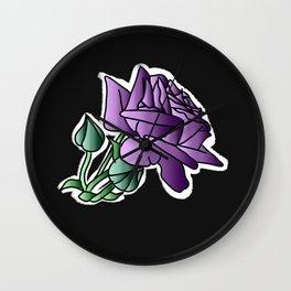 Simple roze black 2 Wall Clock