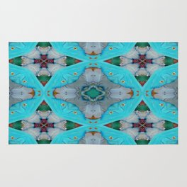 Aqua Motion Four Pointed Stars Rug