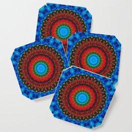 Inner Peace - Kaliedescope Mandala By Sharon Cummings Coaster
