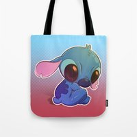 stitch Tote Bags featuring Stitch! by Matsuo Amon