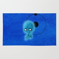 watchmen Area & Throw Rugs featuring Chibi Dr. Manhattan by artwaste