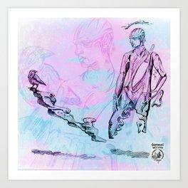John and the Jackdaw Art Print