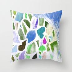 Blue Terrazzo Throw Pillow