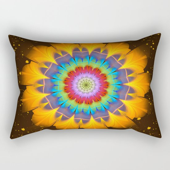 Tropical fantasy flower Rectangular Pillow