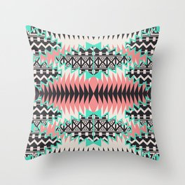 Tribal Beat Geo Pastel Throw Pillow