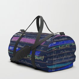 Library Card 3503 Exploring the Moon Negative Duffle Bag