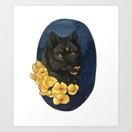 Third Eye Wolfdog Art Print