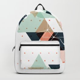 Midcentury geometric abstract nr 011 Backpack