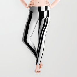 Black and white stripes 1 Leggings