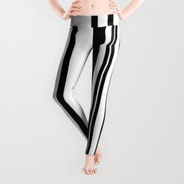Black and white stripes 1 Leggings