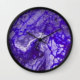 Purple Lava Wall Clock