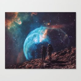 Hiking the universe Canvas Print