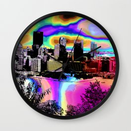 Tripping Bridges Wall Clock