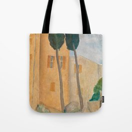 Amedeo Modigliani Cypresses and Houses at Cagnes Tote Bag