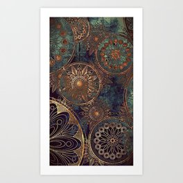 Steampunk Mandala Kunstdrucke