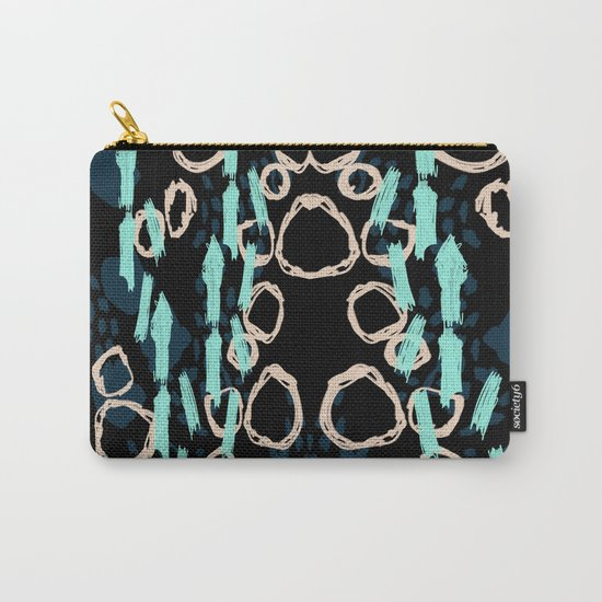 Siggy - Modern abstract brushstroke trendy hipster dorm college brooklyn socal beach luxe abstract Carry-All Pouch