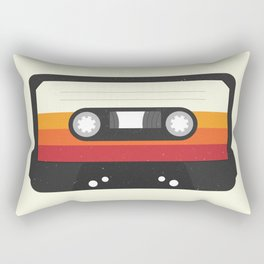 Black Cassette #1 Rectangular Pillow