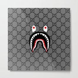 bape shark guci Metal Print