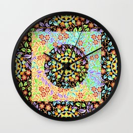 Filigree Floral Patchwork (printed) Wall Clock