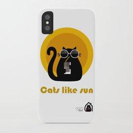 """Cats like sun"" by Qora & Shaï iPhone Case"