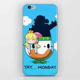 Yay Monday, Peach iPhone Skin
