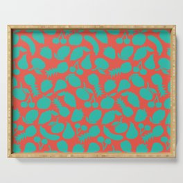 Fruit Salad (coral teal) Serving Tray
