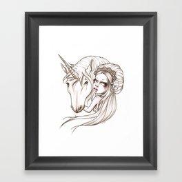 Her first Unicorn Framed Art Print