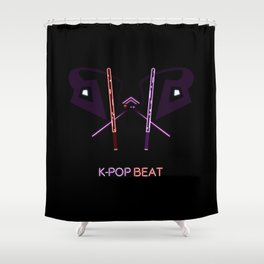 K-POP Beat V2 Shower Curtain