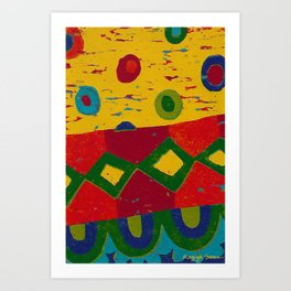 Reduction in colour Art Print