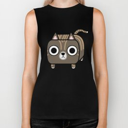 Cat Loaf - Brown Tabby Kitty Biker Tank