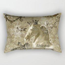 Haute école – Gold Rectangular Pillow