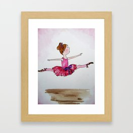 The Little Ballerina 2 Framed Art Print