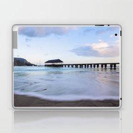 Hanalei Bay Pier at Sunrise Laptop & iPad Skin