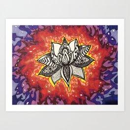 Rebirth Lotus Art Print