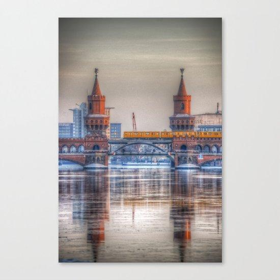 Frozen bridge Berlin Canvas Print