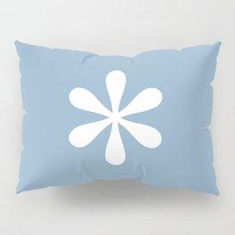 asterisk sign on placid blue color background Pillow Sham
