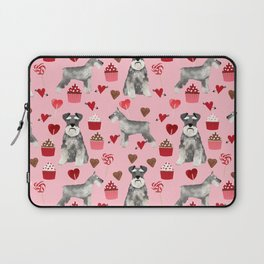 Schnauzer valentines day cupcakes love hearts schnauzers must have pure breed lovers Laptop Sleeve
