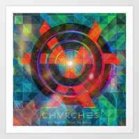 chvrches Art Prints featuring Chvrches by Mapache