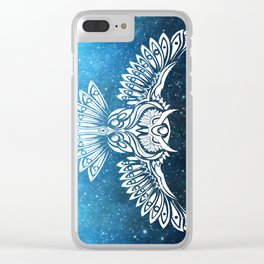 Heavenly Owl // Space Mosaic Clear iPhone Case