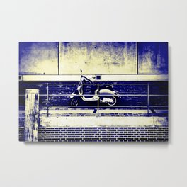Moped Grunge Metal Print