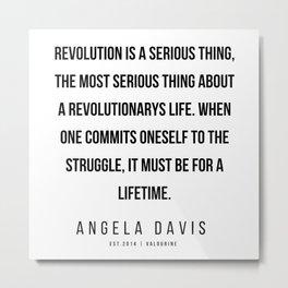 3      |  Angela Davis | Angela Davis Quotes |200609 Metal Print