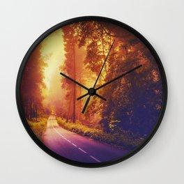 Enchanting road Wall Clock