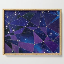 Interstellar Network Pattern Serving Tray