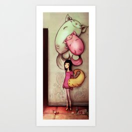 She Has a Puny Imagination Art Print
